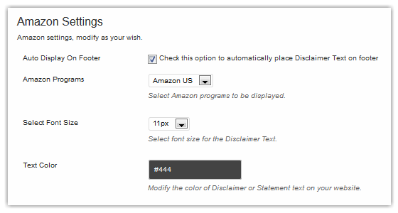 Amazon Disclosure Setting